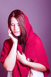 Attractive woman with a veil Stock Photo