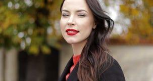 Woman with vivid makeup stock video