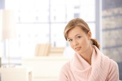Attractive woman warm sweater Royalty Free Stock Image