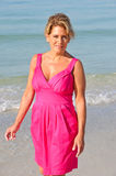 Attractive Woman Wearing A Pink Dress Royalty Free Stock Photo