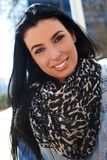 Attractive woman wearing scarf Royalty Free Stock Photography
