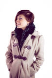 Attractive woman wearing a warm coat Royalty Free Stock Image