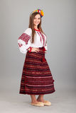 Attractive woman wears Ukrainian national dress Stock Image