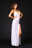 Attractive woman in white dress Royalty Free Stock Photo