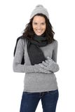 Attractive woman in winter clothes Stock Photo