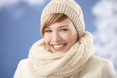 Attractive woman in winter clothes Royalty Free Stock Image