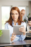 Attractive woman at work Stock Image