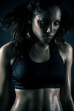 Attractive woman working out Royalty Free Stock Photos