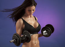 Attractive Woman Working Out stock photos
