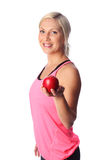 Attractive woman working out Stock Photography