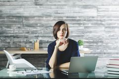 Attractive woman working on project Stock Photography