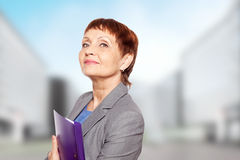 Attractive woman 50 years old Royalty Free Stock Images