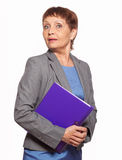Attractive woman 50 years old with a folder for documents Stock Photo