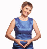 Attractive woman 50 years old Stock Images