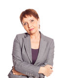 Attractive woman 50 years old Royalty Free Stock Photography