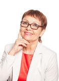 Attractive woman 50 years old smile Royalty Free Stock Images