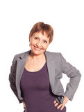 Attractive woman 50 years old smiling Royalty Free Stock Images