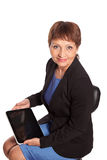 Attractive woman 50 years old Royalty Free Stock Photos