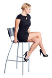 Attractive women on chair Stock Images
