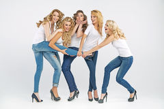 Attractive women having a great time Royalty Free Stock Photos