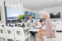Young couple dining Royalty Free Stock Image