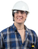 Attractive worker smiling Royalty Free Stock Images