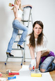 Attractive workers Royalty Free Stock Images