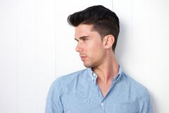 Attractive you man with modern hairstyle Royalty Free Stock Photos