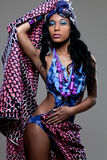 Young beautiful African fashion model. Attractive young African-american fashion model Stock Photos