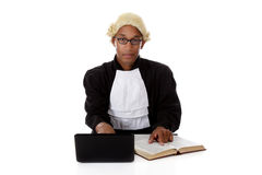 Attractive young African American judge man Stock Photography