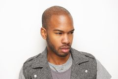 Attractive young african american man looking away Stock Photos