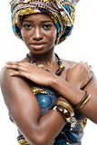 Attractive young African fashion model. Royalty Free Stock Images