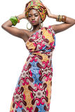 Attractive young African fashion model. Royalty Free Stock Photo