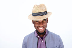 Attractive young african man with hat Royalty Free Stock Images