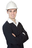 Attractive young architect. A over white background Royalty Free Stock Images
