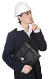Attractive young architect. A over white background Stock Photography