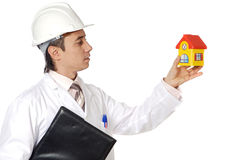 Attractive young architect. A over white background Stock Image