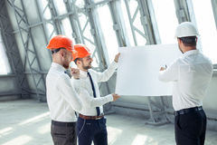 Attractive young architects are working on a royalty free stock image