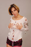 Attractive young armenian woman Stock Image