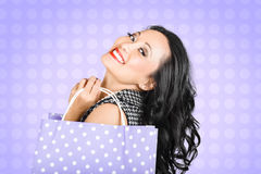 Attractive young Asian girl shopping in style Stock Photo