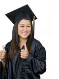 Attractive young Asian graduate student Stock Image