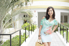Attractive young Asian model Royalty Free Stock Photography