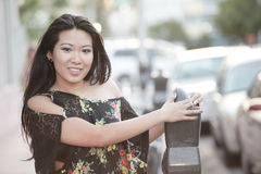 Attractive young Asian Model Royalty Free Stock Images