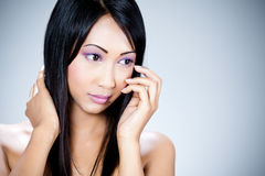 Attractive young Asian woman Royalty Free Stock Photography
