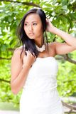 Attractive young asian woman beauty portrait Royalty Free Stock Image