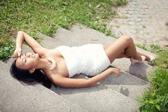 Attractive young asian woman beauty portrait Royalty Free Stock Photo