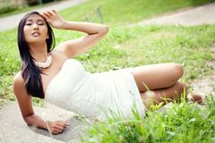 Attractive young asian woman beauty portrait Royalty Free Stock Photography