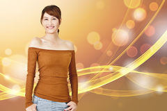 Attractive young Asian woman Stock Images