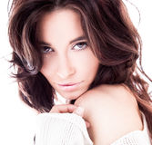 Attractive young beautiful woman Stock Images