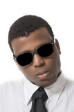 Attractive young black man with shades on Royalty Free Stock Image